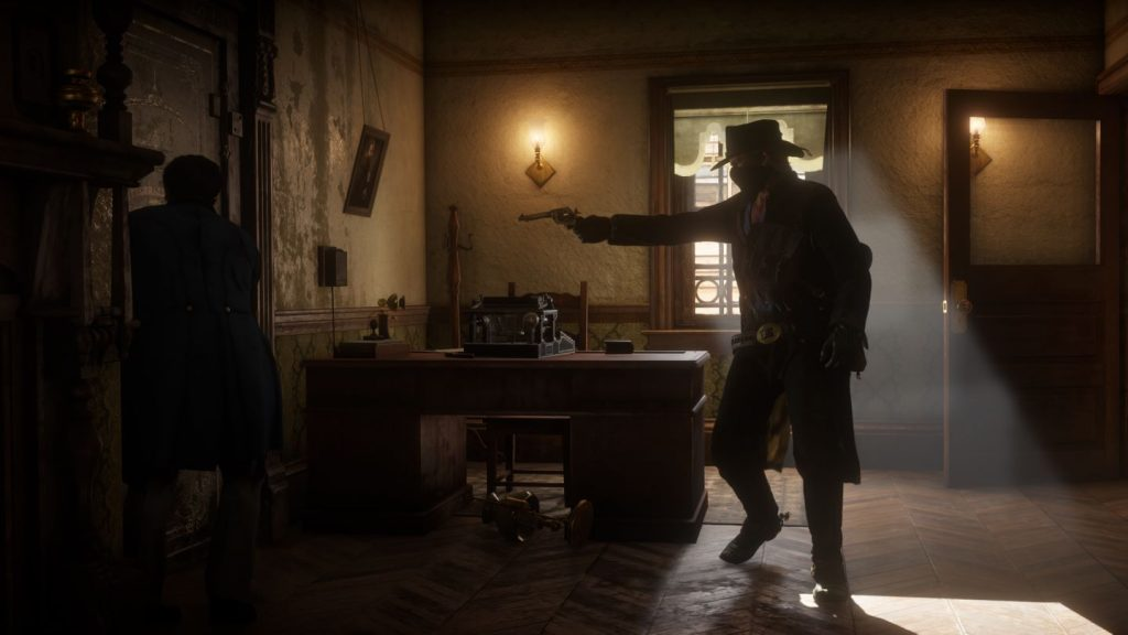 Scene from RDR2 of World Cup of Characters Champion Arthur Morgan