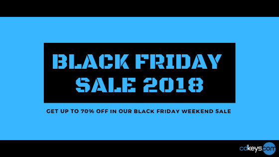 Black friday weekend sale 2018 up to 70% off at cdkeys.com