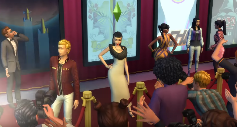 The Sims 4: Get Famous walks red carpet