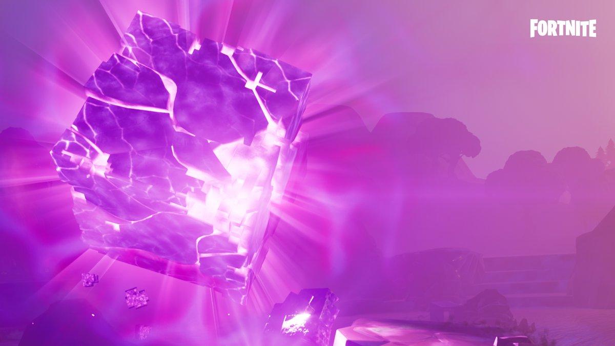 Fortnitemares ends, cube explodes.