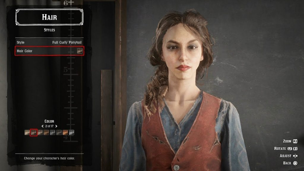 red dead online character creator screen