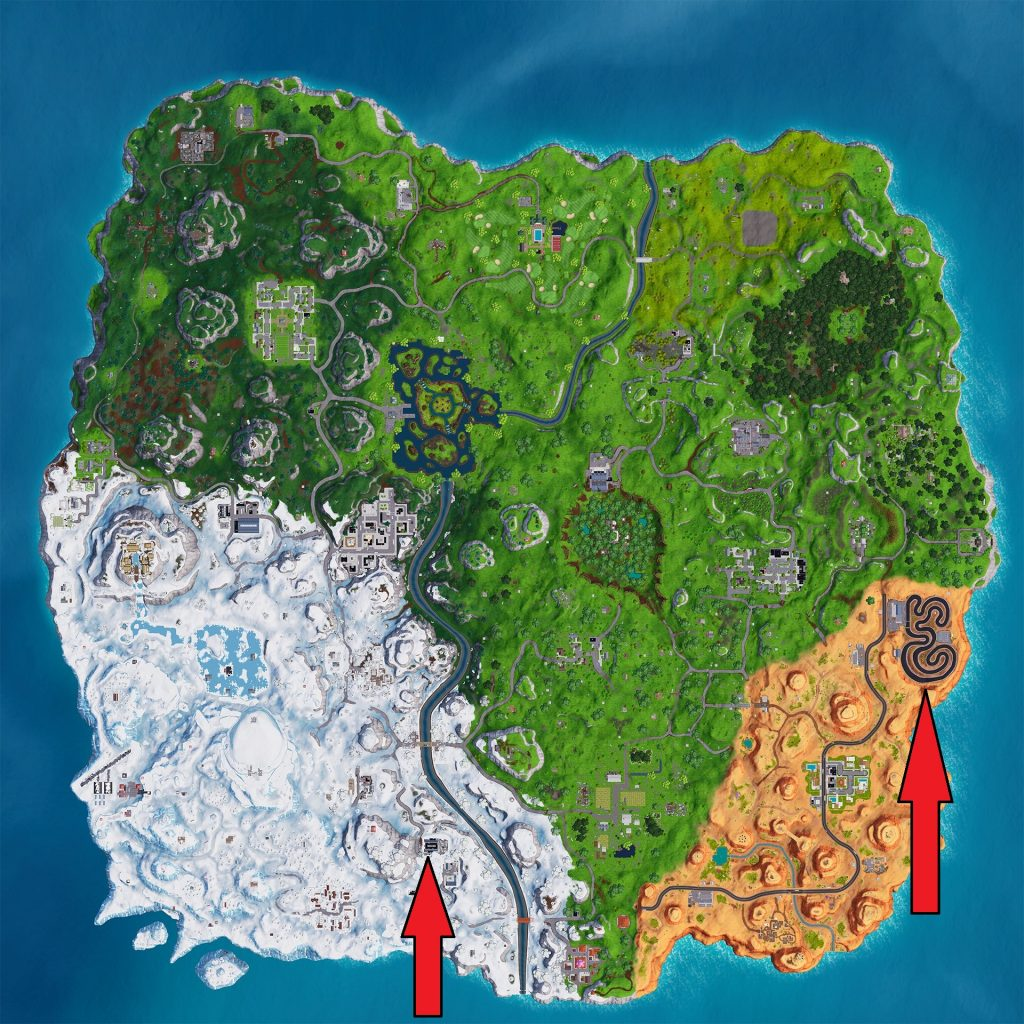 Image result for Fortnite Overtime Challenges map