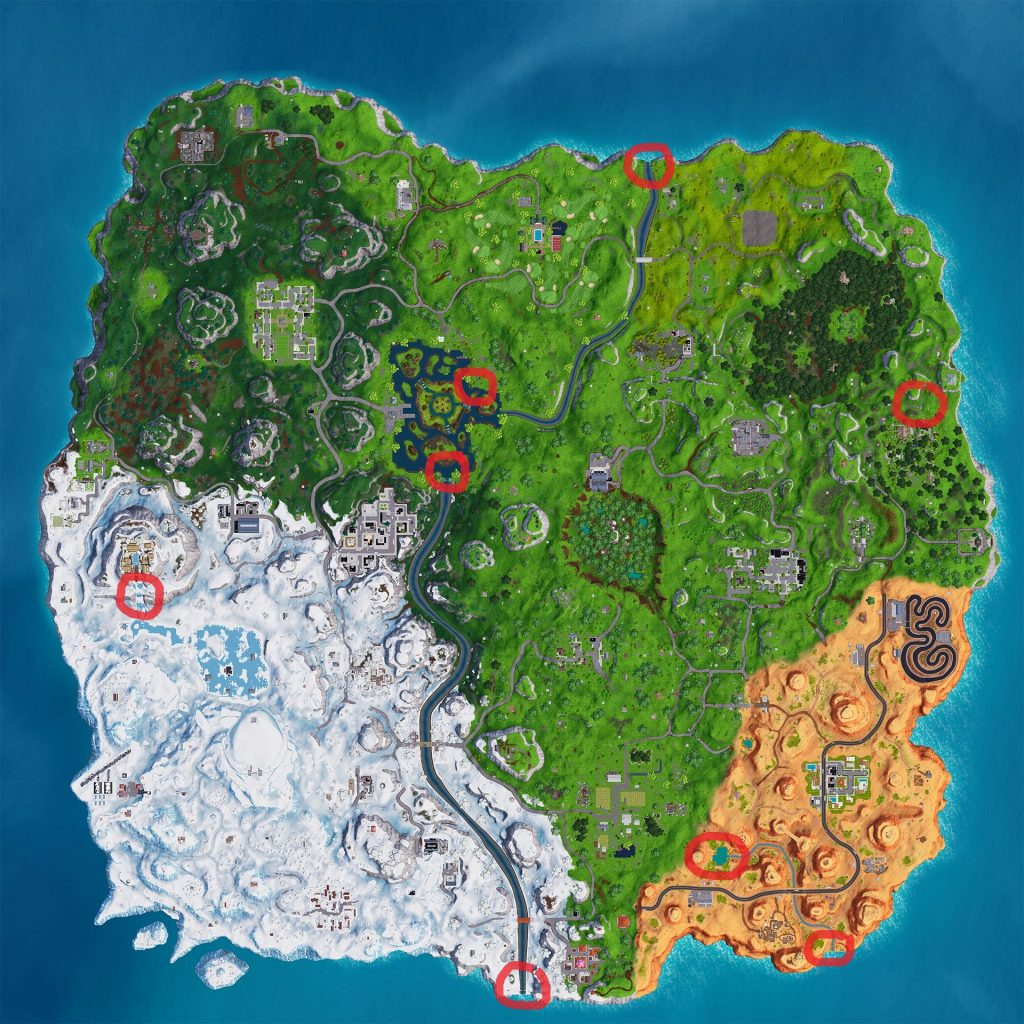 Map in Fortnite Overtime Challenges part 3
