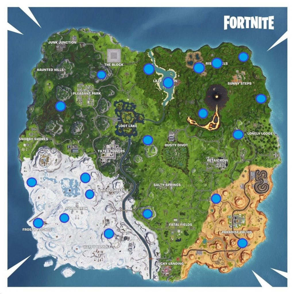 Map in Fortnite Week 4 Challenges