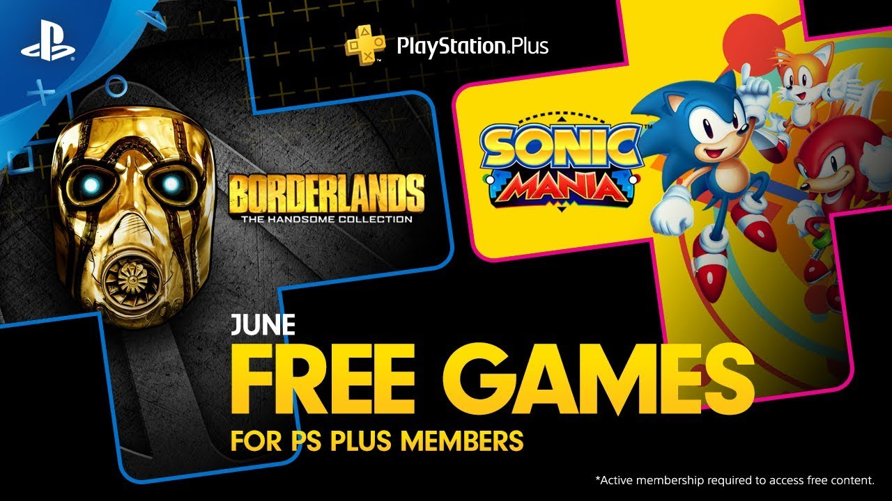 PS Plus June free games, Borderlands, Sonic
