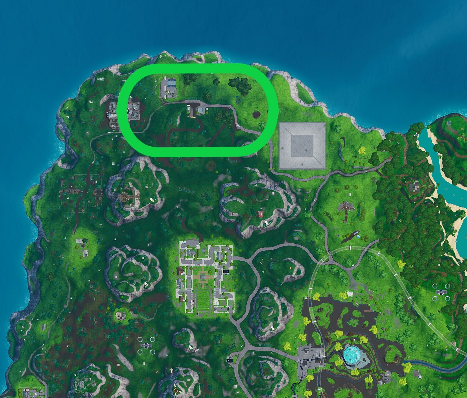 fortnite grassland race track