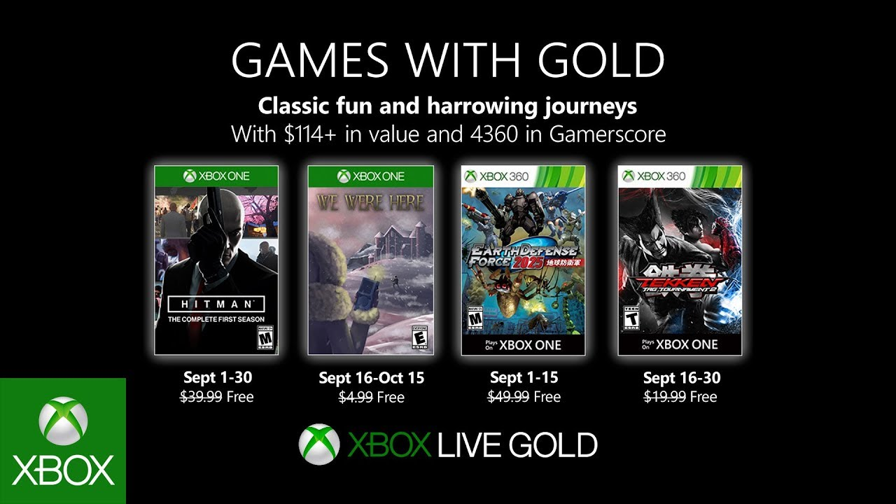 games with gold september 2019, free new games, xbox live