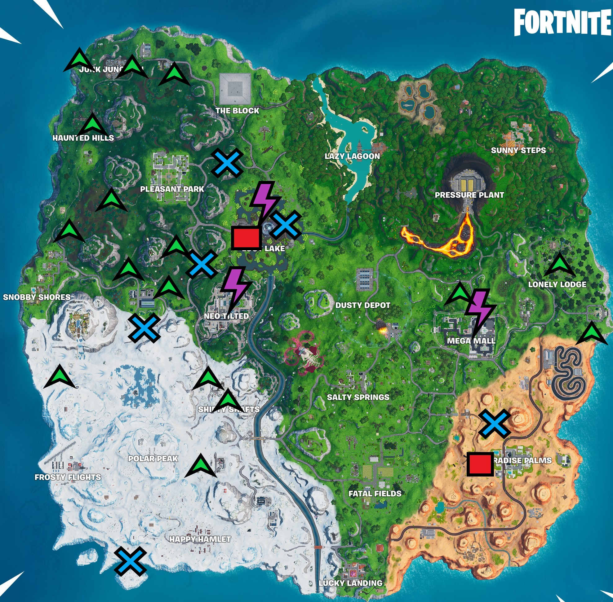 fortnite season 10 week 3 Cheat Sheet