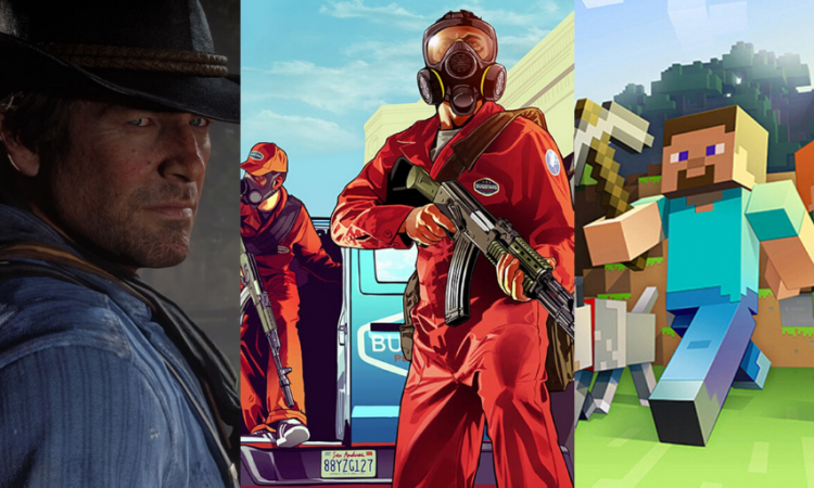 Minecraft, GTA 5 and RDR2 Best Games of the Decade